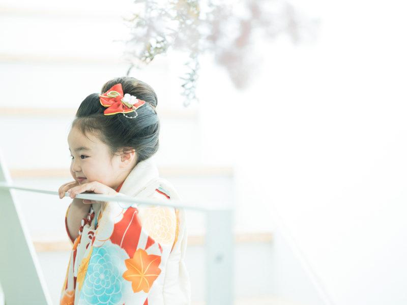 3歳七五三、はるちゃん!日本髪