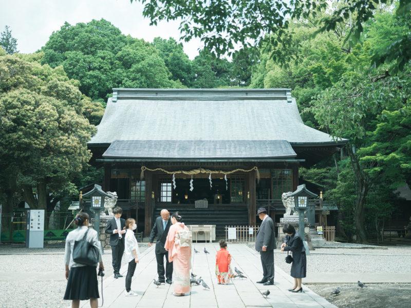 宇都宮二荒山神社、3歳七五三、めぐちゃん!本殿