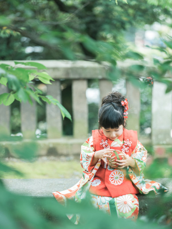 宇都宮二荒山神社、3歳七五三、めぐちゃん!鞠
