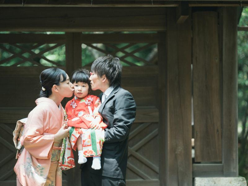 宇都宮二荒山神社、3歳七五三、めぐちゃん!家族写真