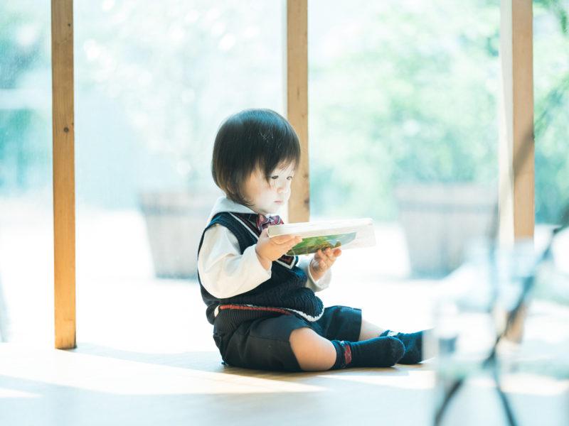 1歳バースデーフォト、りょうたろうくん!絵本