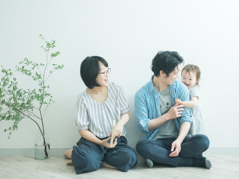 2歳バースデーフォト、あおいちゃん!家族写真