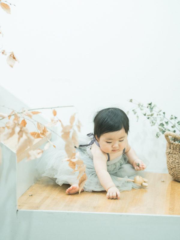 1歳バースデーフォト、あんなちゃん!ドレス