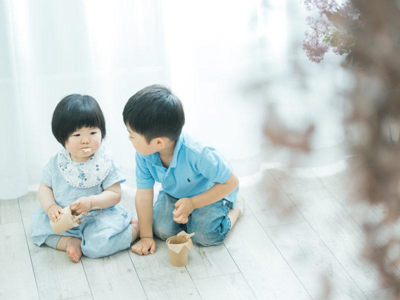 1歳バースデーフォト、ひいろちゃん!兄弟写真