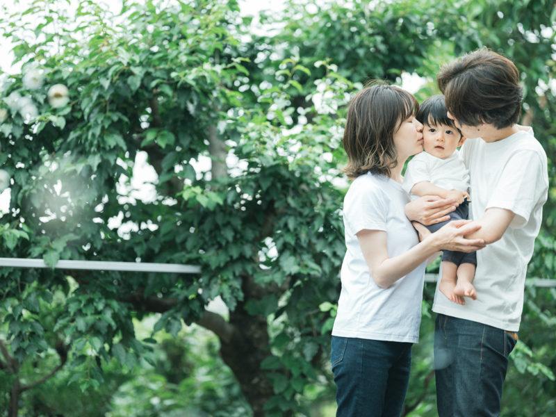 1歳バースデー、えいたろうくん!家族写真