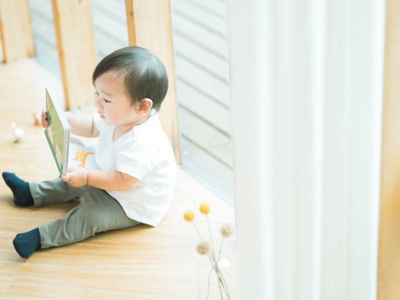 1歳バースデーフォト、はるとくん!絵本