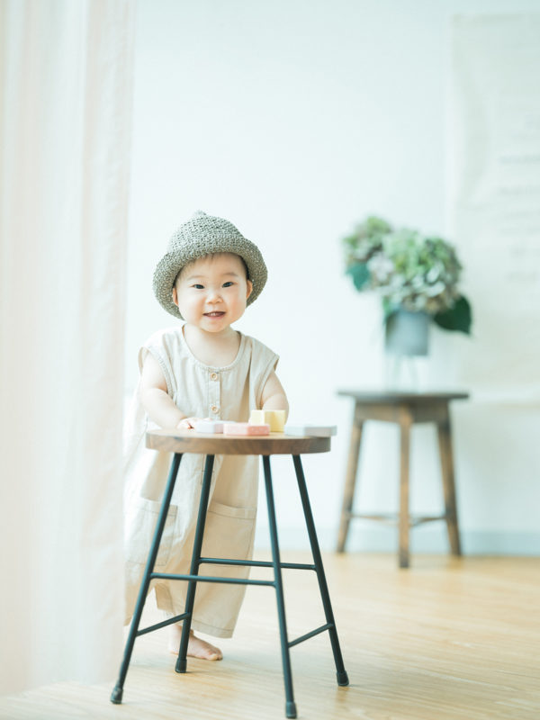 双子1歳バースデーフォト!つむちゃん