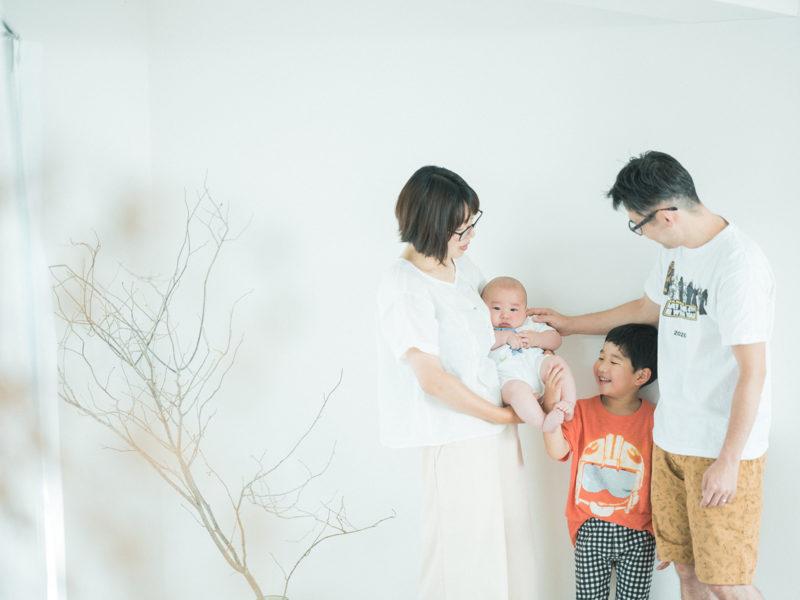 お宮参り、たけちゃん!家族写真