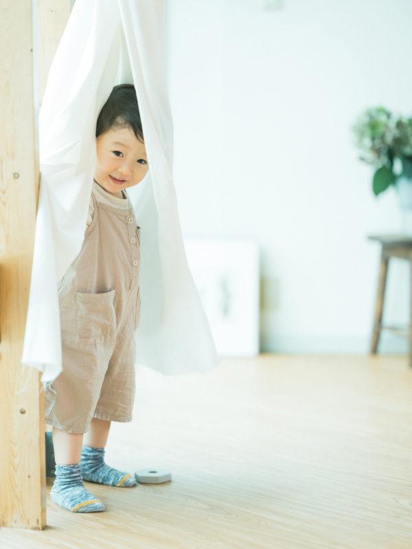 2歳バースデーフォト、そうすけくん!カーテン