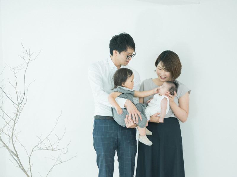 お宮参り、あおばちゃん!家族写真