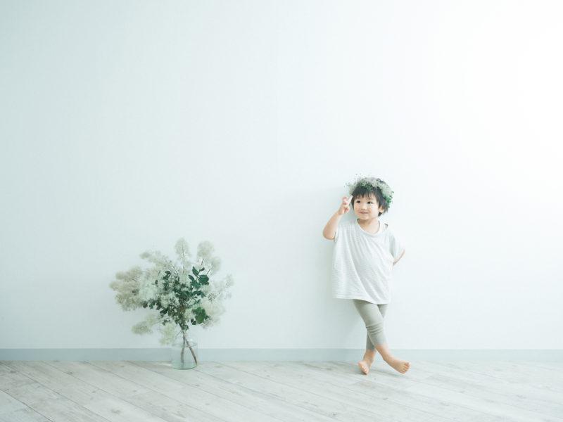 3歳バースデーフォト、ゆづるくん!可愛いヘッドパーツ