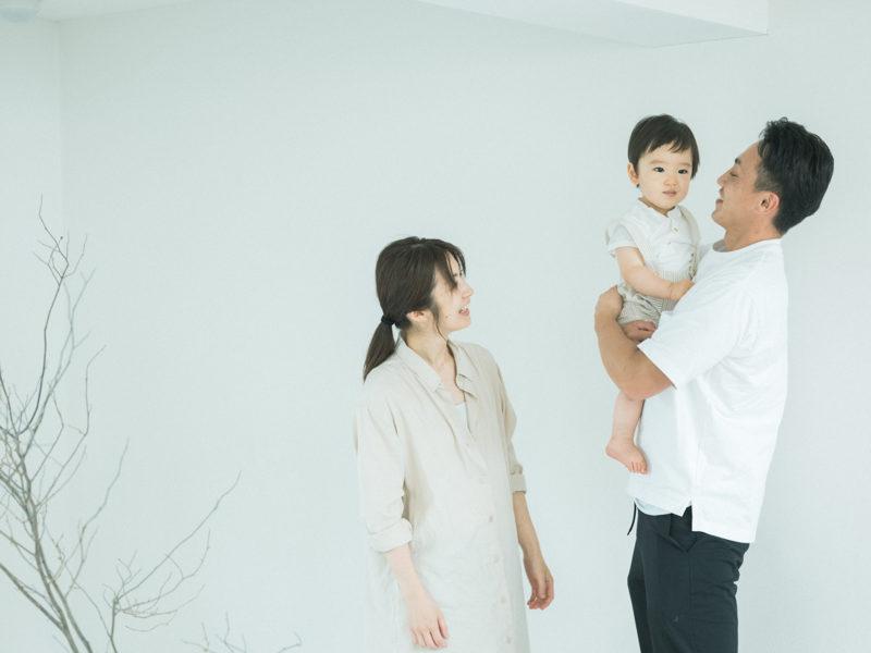 あおばくん、1歳バースデーフォト!家族写真