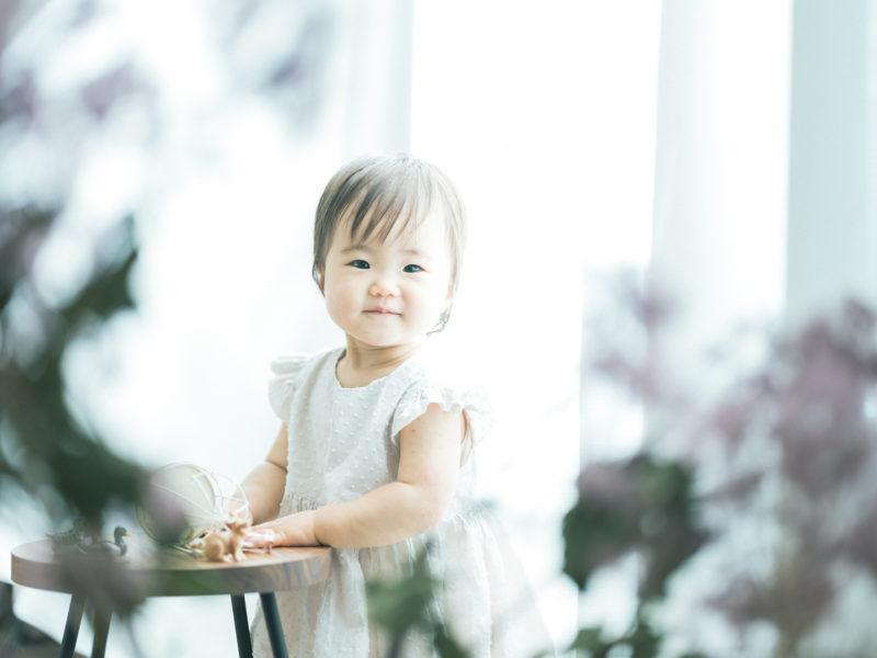 1歳バースデーフォト、のあちゃん!ご機嫌
