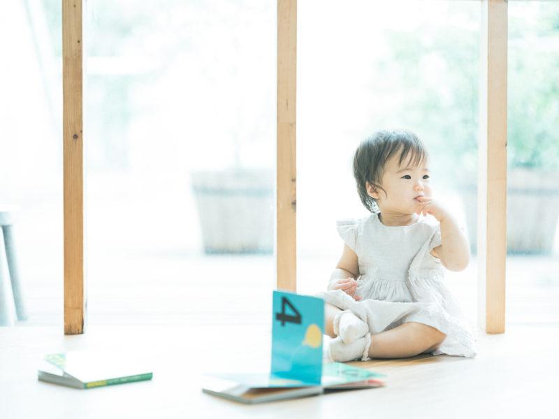 1歳バースデーフォト、のあちゃん!絵本、おやつ