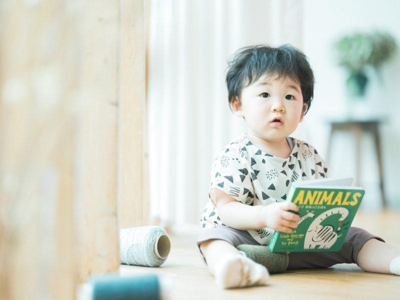 1歳バースデーフォト、いずみくん!絵本