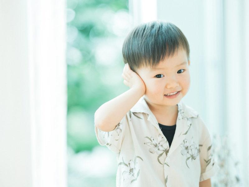3歳バースデーフォト、しゅうくん!
