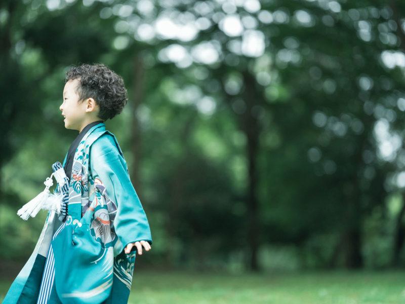 3歳5歳七五三、中央公園ロケ!さくとくん