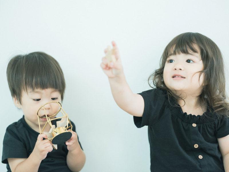 3歳バースデーフォト、こうちゃん!兄弟写真