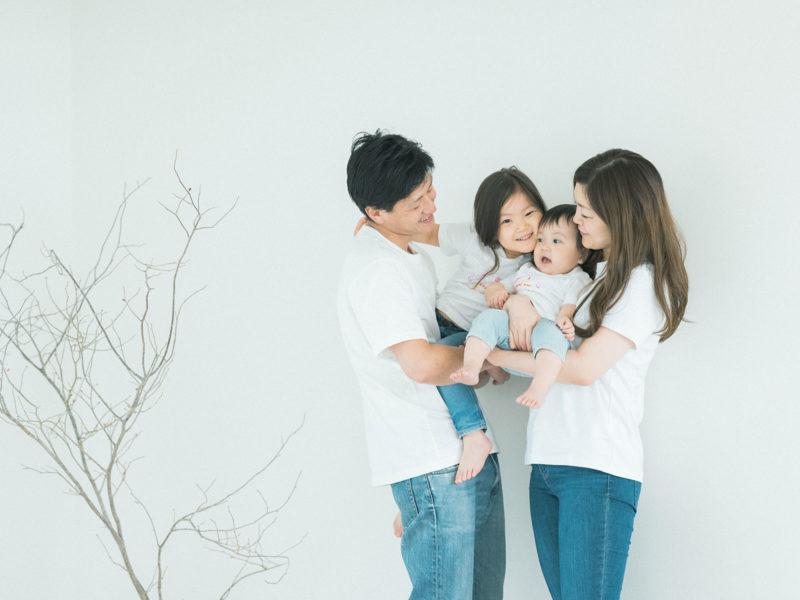 1歳バースデーフォト、らんちゃん!家族写真