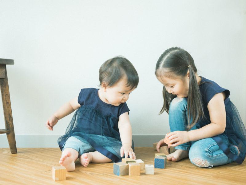 1歳バースデーフォト、らんちゃん!姉妹写真