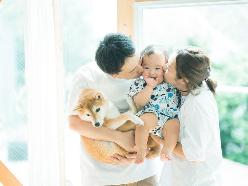 さくくん、家族写真!可愛い