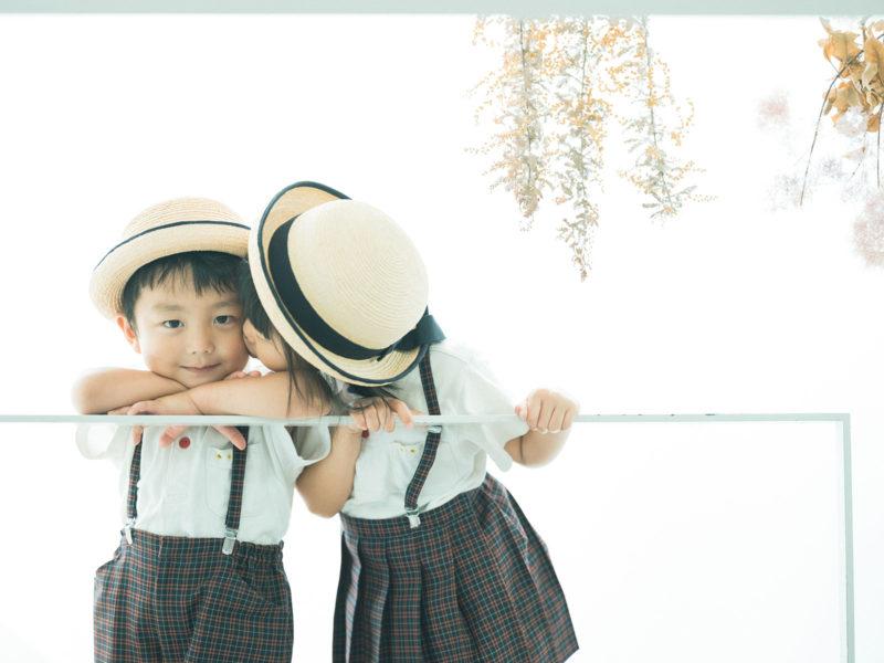 ゆづきちゃん!兄弟写真、園児服、お揃い
