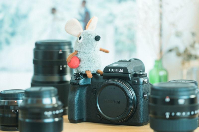 FUJIFILM GFX50S with FUJINON G and X mount lens