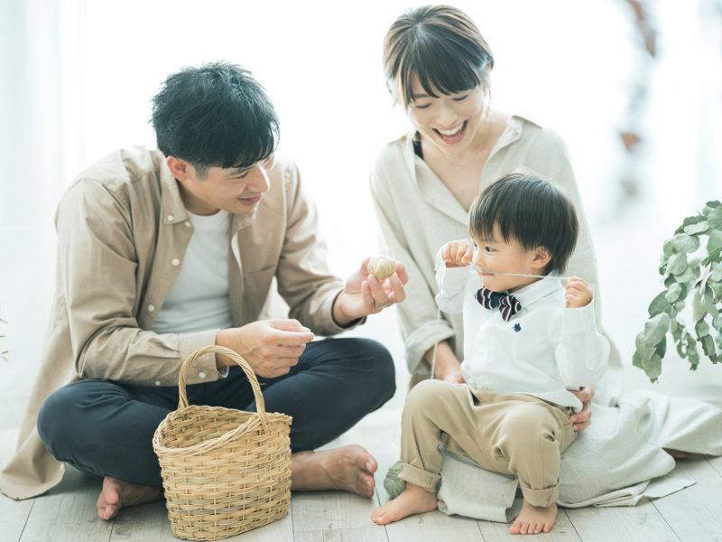 2歳バースデーフォト、いづきくん!家族写真