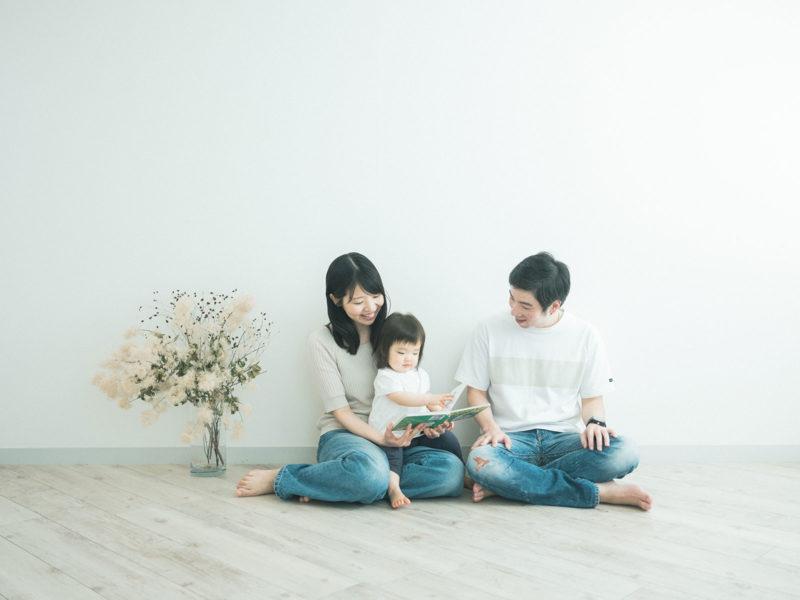 1歳バースデーフォト、ゆのちゃん!家族写真