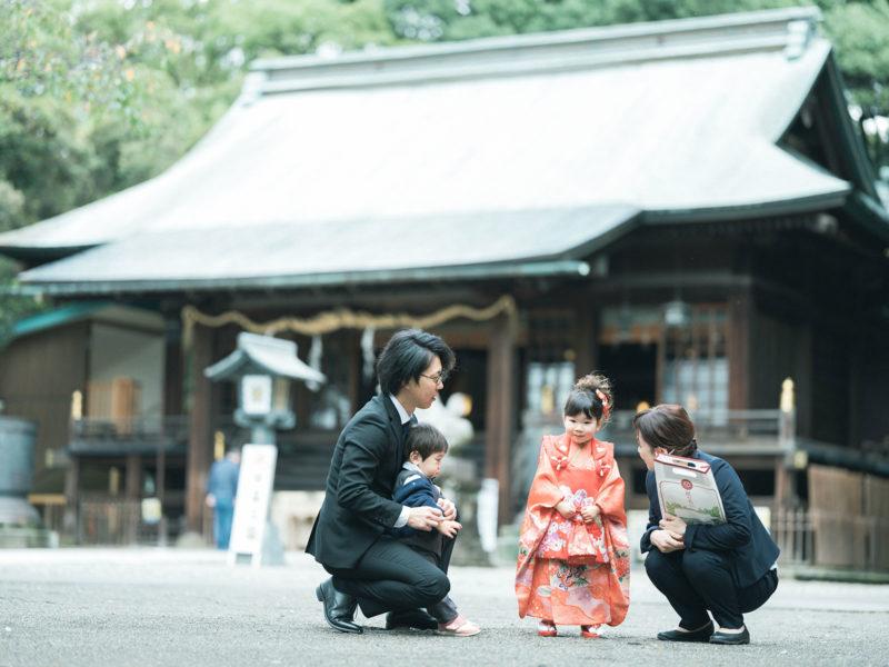 宇都宮二荒山神社ロケ、なつのちゃん、3歳七五三!家族写真