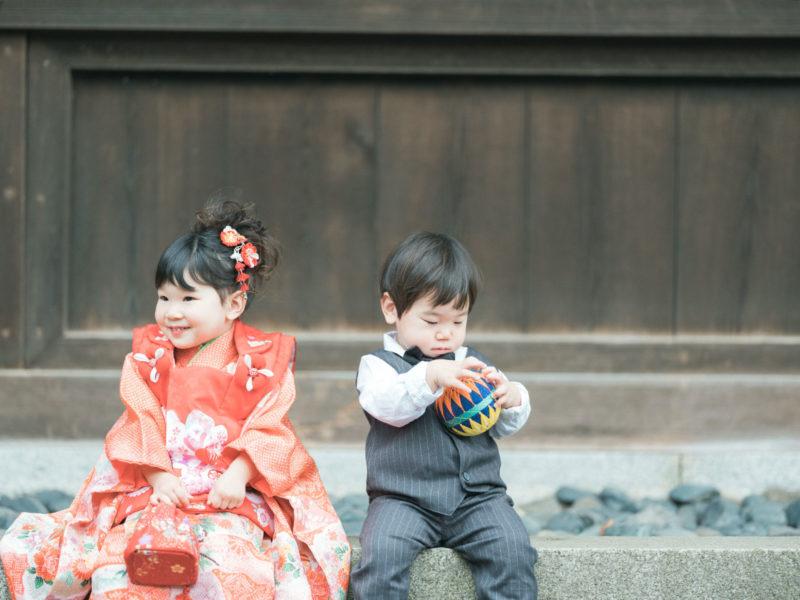 宇都宮二荒山神社ロケ、なつのちゃん、3歳七五三!兄弟写真