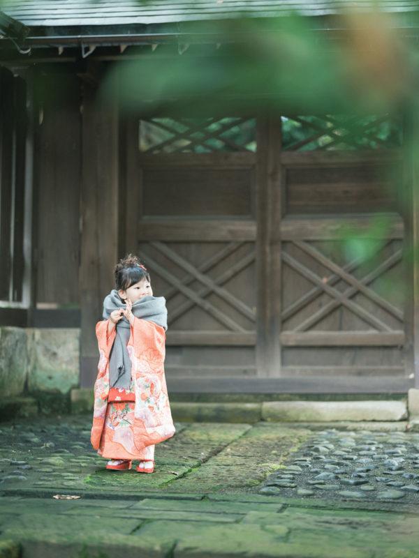 宇都宮二荒山神社ロケ、なつのちゃん、3歳七五三!ストール