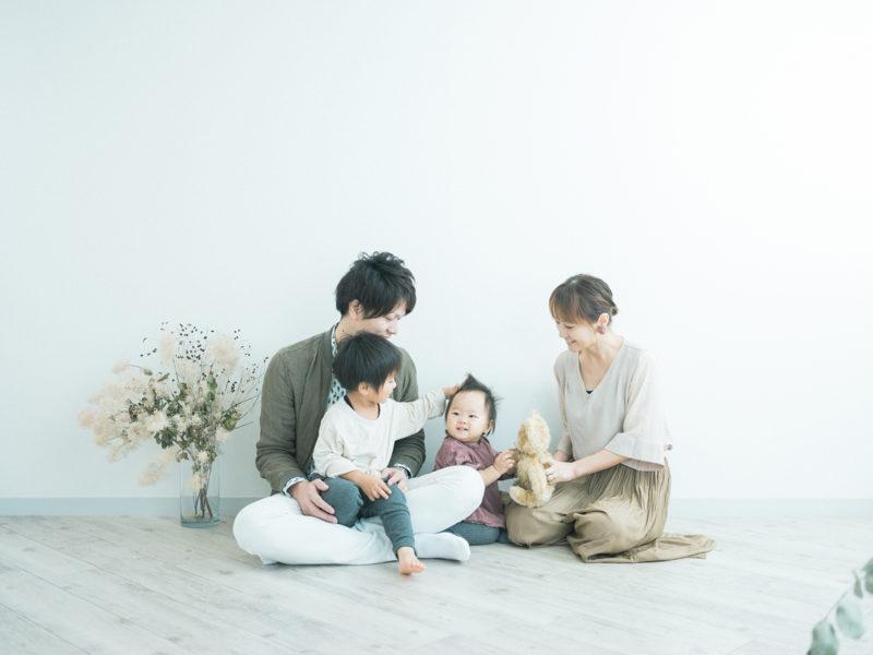 ふたばちゃん、バースデーフォト!家族写真