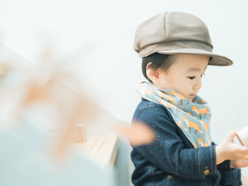 1歳バースデーフォト、たつきくん!可愛い帽子