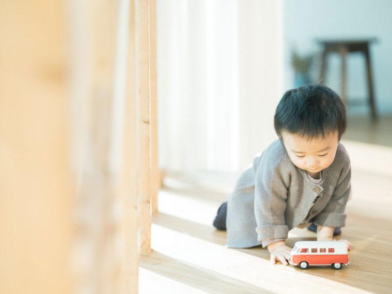 1歳バースデーフォト、たつきくん!VWバス