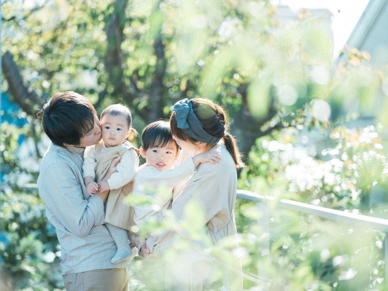 1歳バースデー、ゆなちゃん!家族写真