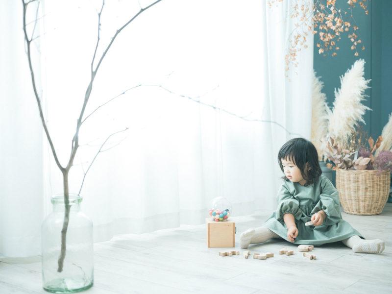 2歳バースデーフォト、あおいちゃん!kiko+