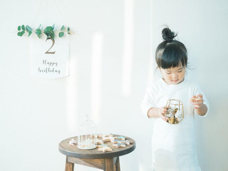 2歳バースデーフォト、あおいちゃん!可愛い