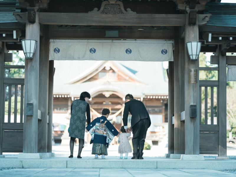 白鷺神社出張撮影、5歳七五三、こうすけくん!家族写真