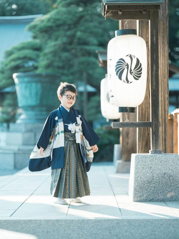 白鷺神社出張撮影、5歳七五三、こうすけくん!お洒落な眼鏡