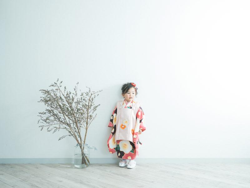 3歳七五三、ひなみちゃん!モダンな着物