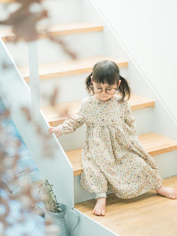 2歳バースデーフォト、つむぎちゃん!お洒落メガネ、伊達眼鏡