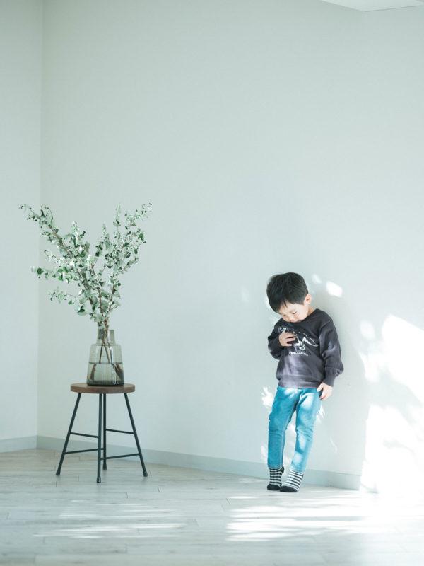 3歳バースデー、たくまくん!ナチュラルな自然光