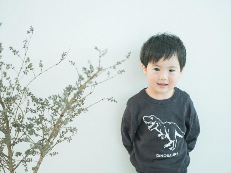 3歳バースデー、たくまくん!恐竜
