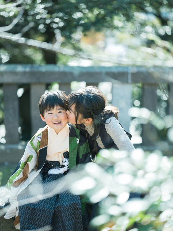 宇都宮二荒山神社、七五三ロケ、5歳七五三、ゆうくん!兄弟写真