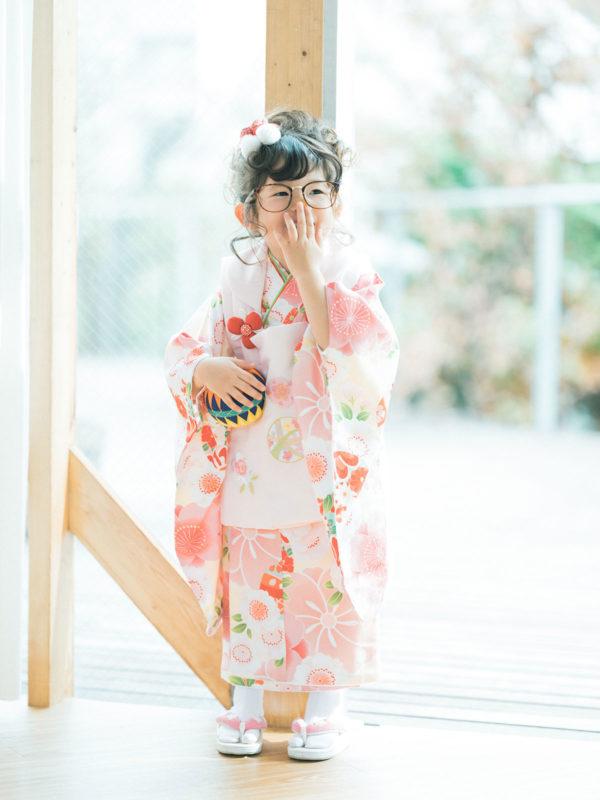 3歳七五三、ゆうみちゃん!お洒落メガネ