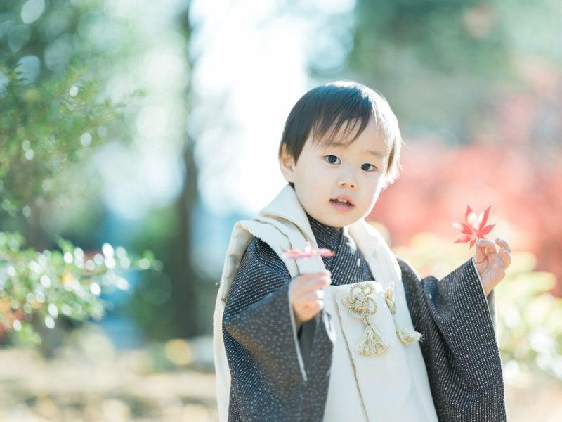 鑁阿寺、3歳男の子の七五三、しゅうくん!