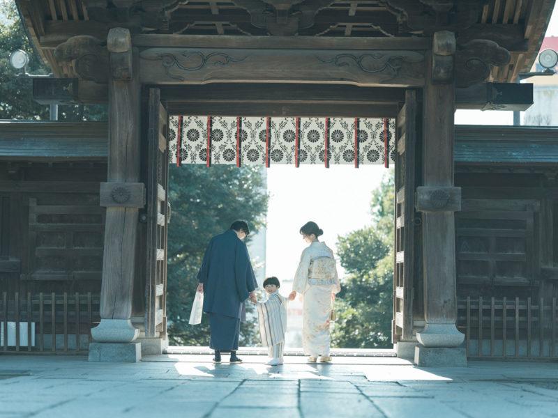 宇都宮二荒山神社、七五三ロケ、3歳男の子の七五三、かいちゃん!家族写真