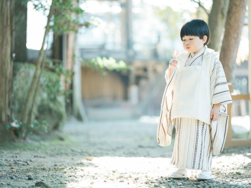 宇都宮二荒山神社、七五三ロケ、3歳男の子の七五三、かいちゃん!可愛い被布