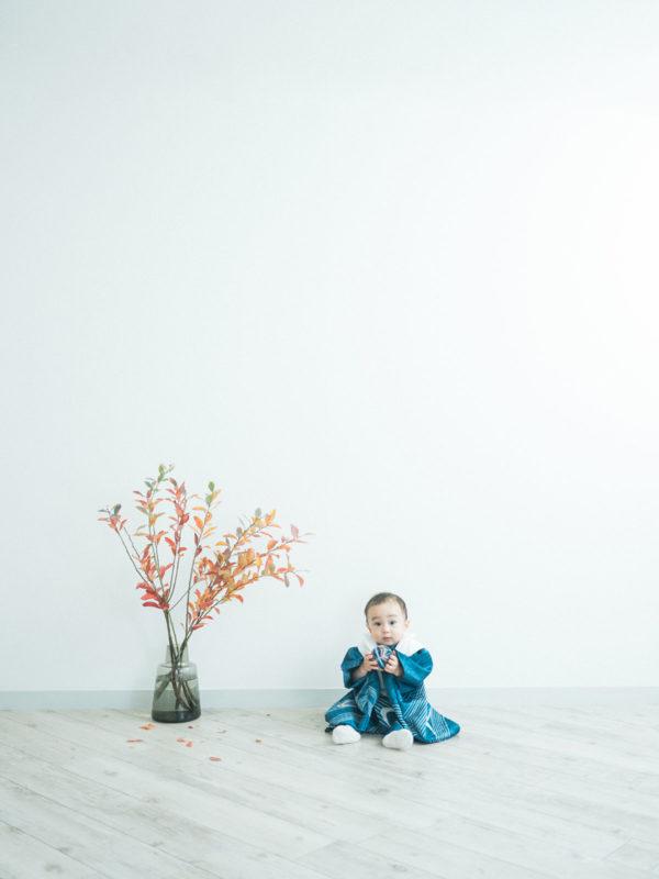 1歳お誕生日、めぐむくん!鞠、着物